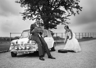 Mini with the Bride & Groom by Keith Mitchell