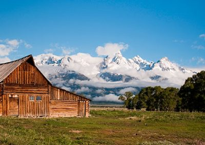 Settlers Barn in Tetons by Colin Ball