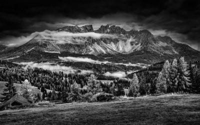 Moon Lights Up The Dolomites by Matt O'Brien
