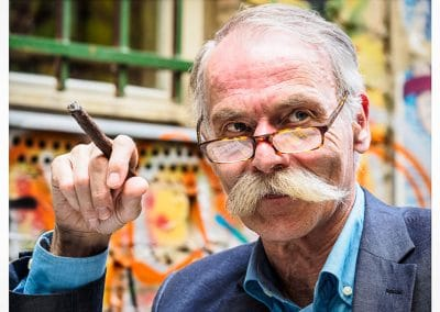 Moustached Gent in Berlin by Barry Dillon