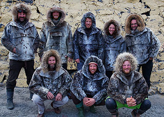 The Team Kitted in Seal Skins