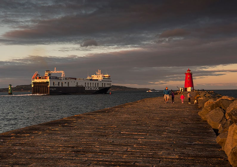 Great South Wall (Poolbeg) - East Wall Sunset by Colin Ball