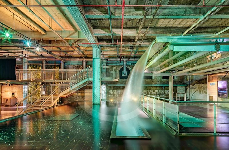The Waterfall Feature in the Guinness Storehouse. Part of winning IPPA best Commercial Portfolio. Finalist in the European Professional Photographer of the Year.