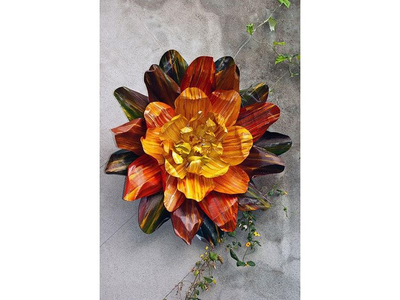 Mega Flower (Artist Lynda Christian) by John McComish